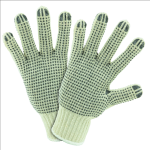 West Chester PVC String Knit Gloves Dotted on Both Sides - LARGE