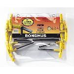 Bondhus 13332, Set 8 Graduated Length Hex T-Handles 3/32 - 1/4