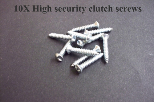 10X High security clutch screws