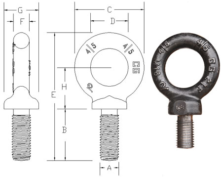 Features Of Imperial Drop forged eye Bolts