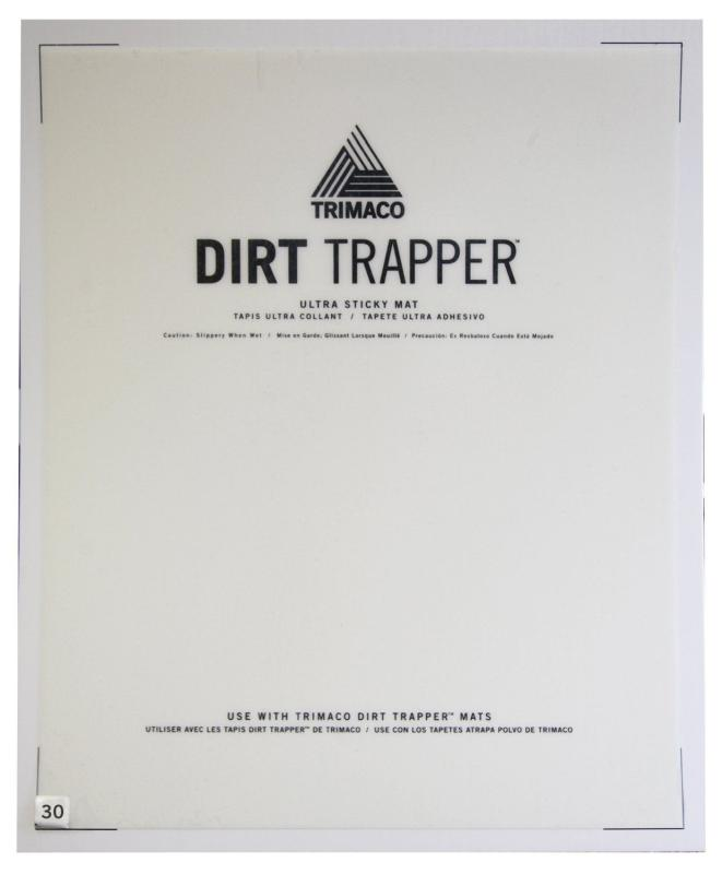 "24"" X 30"" 30 LAYER DIRT TRAPPER® ULTRA STICKY MAT REFILL FOR NON SKID FRAME"