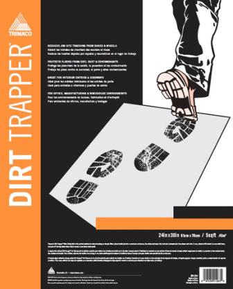 "24"" X 36"" 30 LAYER CLEAR DIRT TRAPPER® ULTRA STICKY MAT"