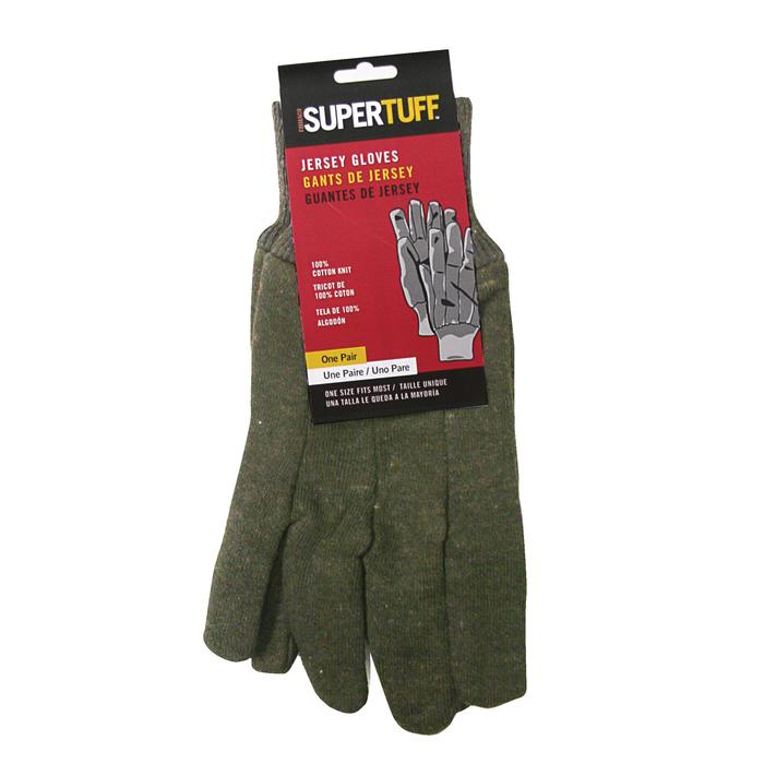 BROWN 100% COTTON KNIT JERSEY GLOVES