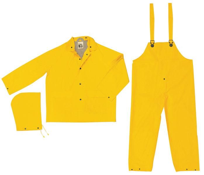 MCR Safety Stowaway Yellow .25mm PVC Light Weight Rain Suit