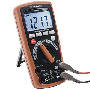 Southwire Auto-Ranging Multimeter w/ Backlit Display, IP67, CAT IV
