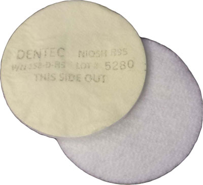Dentec Safety N95 Filter Pad - Box of 16