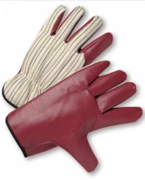 West Chester Canvas Back Russet Palm Nitrile Coated Driver Gloves