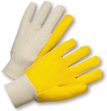 West Chester Mens Yellow Vinyl Impregnated Gloves