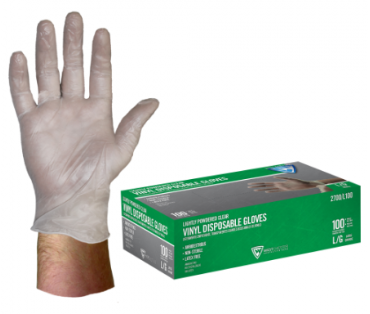 West Chester 4 Mil Industrial Grade Lightly Powdered Vinyl Gloves