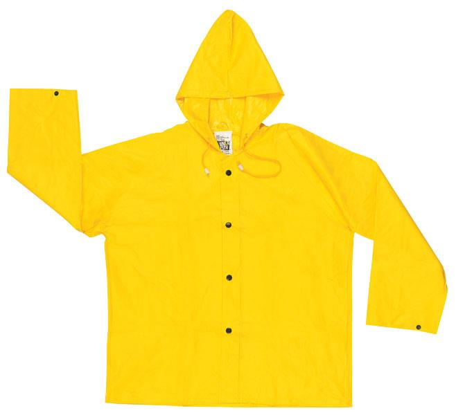 MCR Safety Wizard .28mm PVC/Nylon Attached Hood Rain Jacket