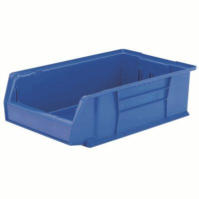 """Akro-Mills Super-Size AkroBins® Storage Bin, 20""""L x 6""""H x 12 3/8""""W, Blue"""