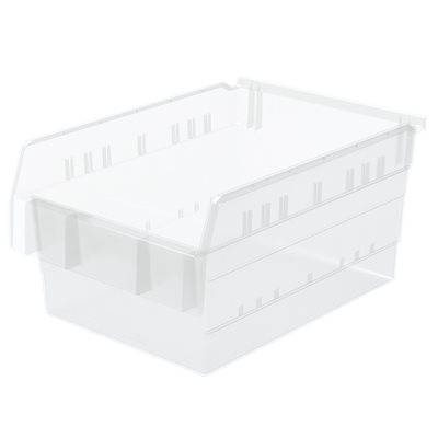 """Akro-Mills ShelfMax8™ Bin, 15 5/8""""L x 8""""H x 11 1/8""""W, Clear"""