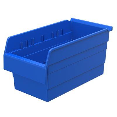 """Akro-Mills ShelfMax8™ Bin, 15 5/8""""L x 8""""H x 8 2/7""""W, Blue"""