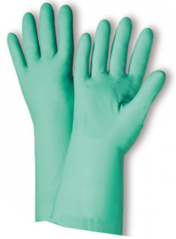 West Chester Standard 11 Mil Green Unlined Nitrile Chemical Resistant Gloves