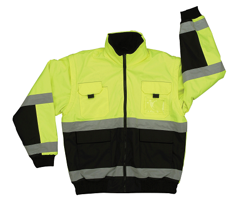 Reversible Lime Bomber Jacket Class 3