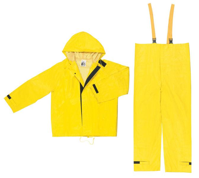 MCR Safety Hydroblast Yellow .28mm PVC/Nylon Light Weight Rain Suit Set