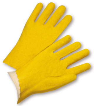 West Chester Yellow Vinyl Coated Jersey Lined Gloves