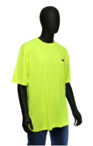 West Chester Large Lime Hi-Visibility Short Sleeve Shirt