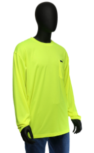 West Chester Medium Lime Hi-Visibility Long Sleeve Shirt