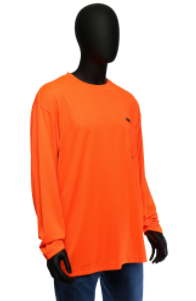 West Chester Medium Orange Hi-Visibility Long Sleeve Shirt