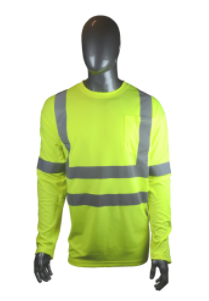 West Chester Medium Lime Class 3 Standard Long Sleeve Shirt