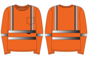 West Chester Medium Orange Class 3 Standard Long Sleeve Shirt