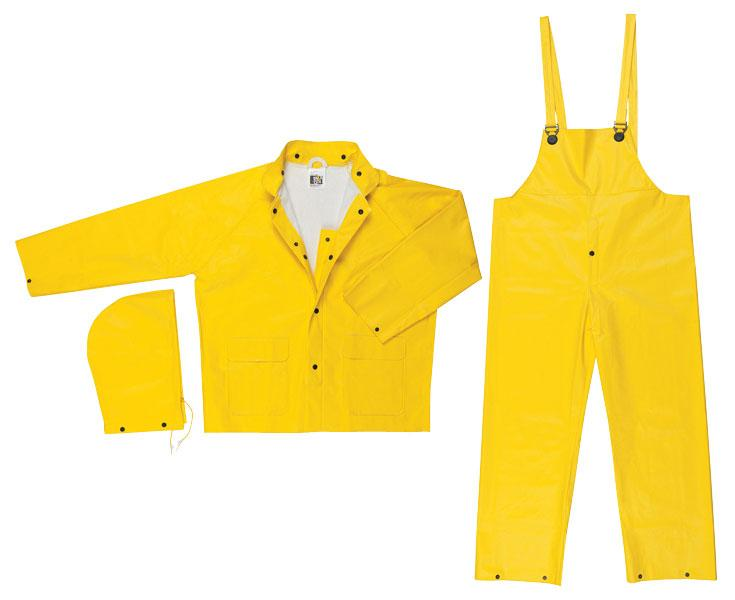 MCR Safety Commodore .40mm PVC/Non-Woven Polyester/Nylon Rain Suit