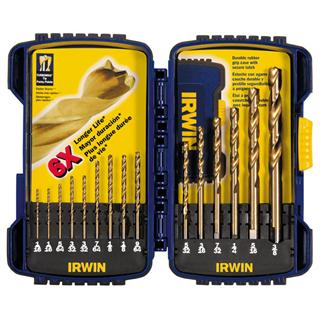 Irwin 15 pc Titanium Nitride (TiN) Coated Drill Bit Set