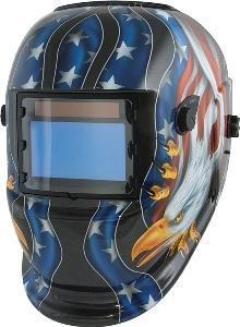 Titan Solar Powered Auto Dark Welding Helmet- Flag and Eagle Design