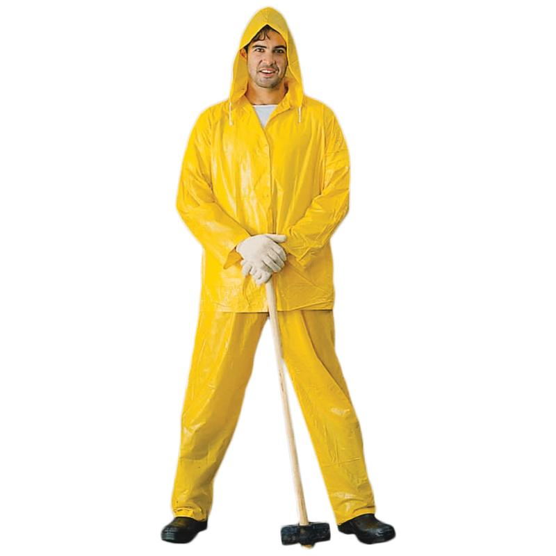 Light Weight PVC Rainsuit, Yellow
