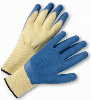 West Chester Blue Crinkle Finish Latex Palm Coated Kevlar® Gloves