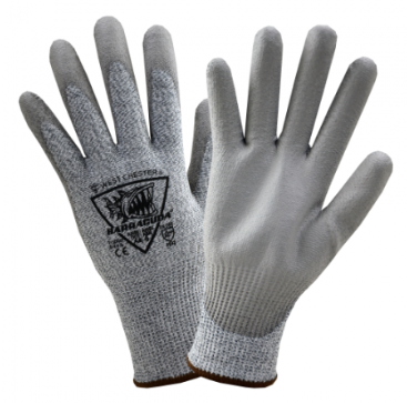 West Chester Barracuda Gray PU Palm Coated Speckle Gray HPPE Gloves