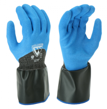 West Chester 13 Gauge 3/4 Dipped Blue Nitrile Sandy Foam Gaunlet Cuff Gloves