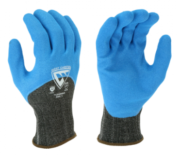 West Chester 13 Gauge 3/4 Dipped Blue Nitrile Sandy Foam Gloves