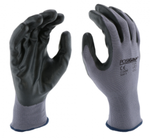 West Chester PosiGrip™ Black Foam Nitrile Palm Coated Gray Polyester Gloves