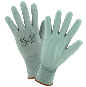 West Chester PosiGrip™ Gray PU Palm Coated Gray Nylon Gloves