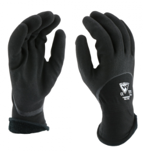 West Chester 15 Gauge Black Water Resistant Sandy Nitrile Knuckle Dipped Gloves