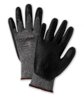 West Chester PosiGrip™ Salt & Pepper Nylon Shell Black  Lunar Foam Nitrile Palm Dipped Gloves