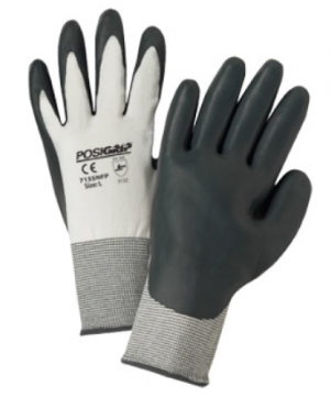 West Chester PosiGrip™ 15 Gauge Gray Sponge Black Nitrile Dipped Gloves