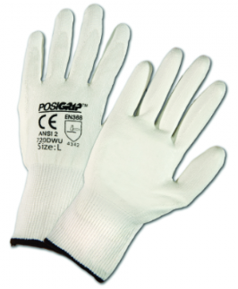 West Chester PosiGrip™ White HPPE PU Palm Coated Gloves