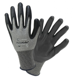 West Chester PosiGrip™ Gray With Black Nitrile Dipped Gloves