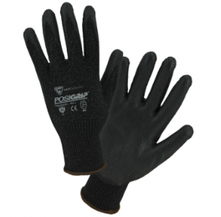 West Chester PosiGrip™ Black PU Dipped Gloves