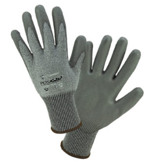 West Chester PosiGrip™ Gray PU Dipped Cut Resistant Gloves