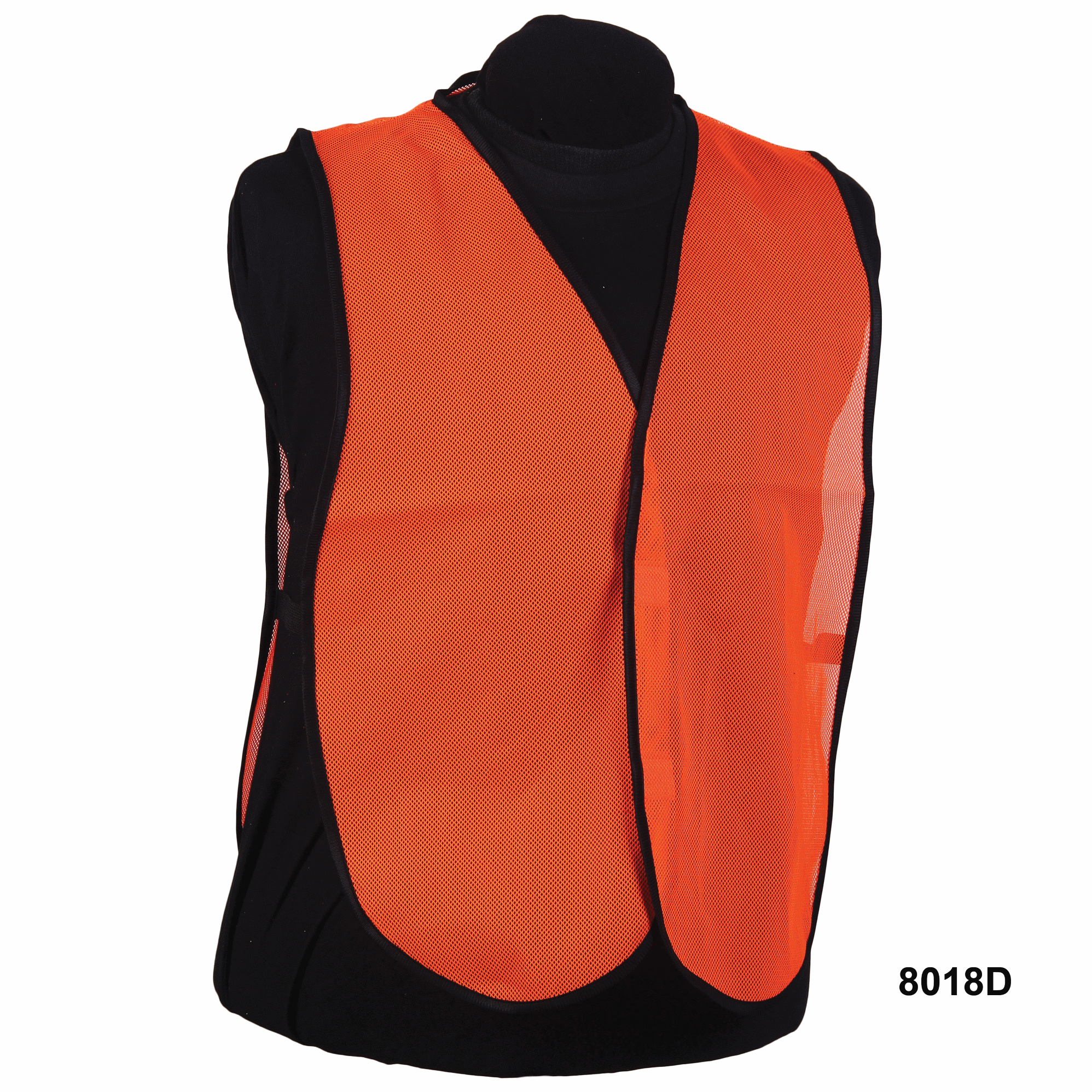 Nylon Orange Mesh Vest without Stripe
