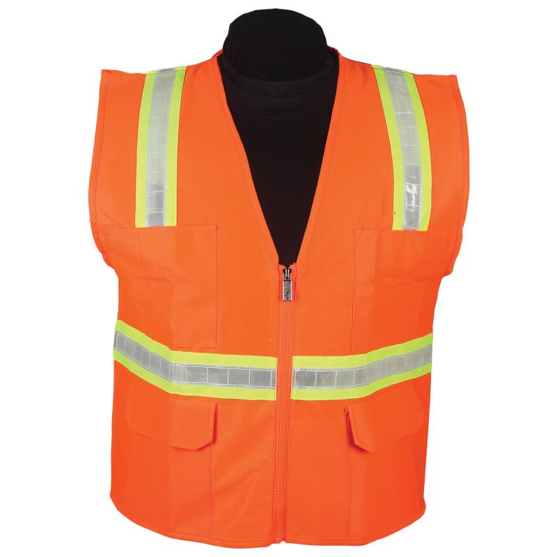 Orange Surveyor Vest with Stripe