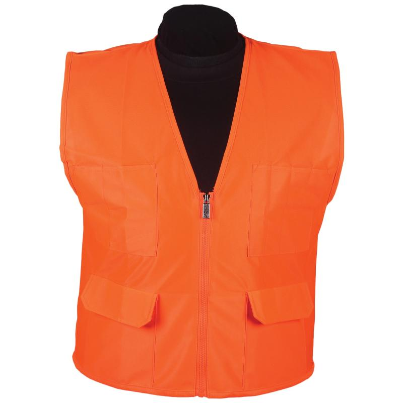 Orange Surveyor Vest No Stripe