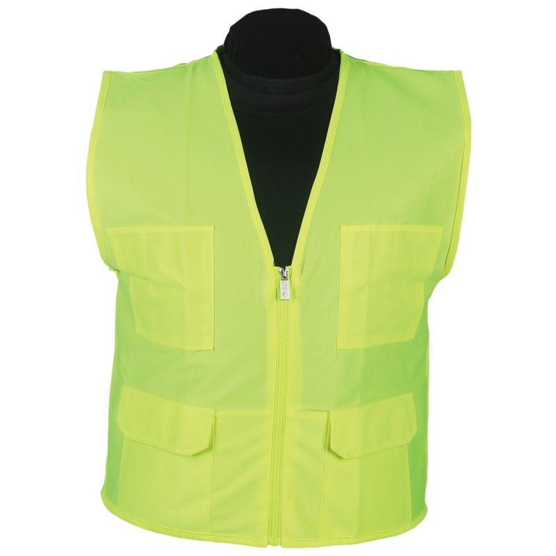 Lime Surveyor Vest No Stripe