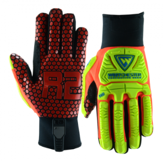West Chester R2 Red/Yellow Safety Rig Ace High Dexterity Gloves