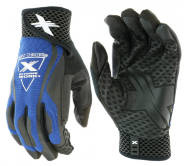 West Chester Extreme Work™ Blue LocX-On™ Grip High Dexterity Gloves