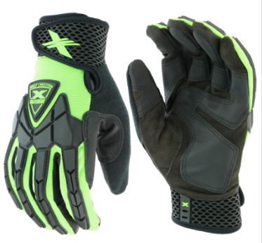 West Chester Extreme Work™ Black/Lime Strike ProteX™ XLock™ Cuff High Dexterity Gloves
